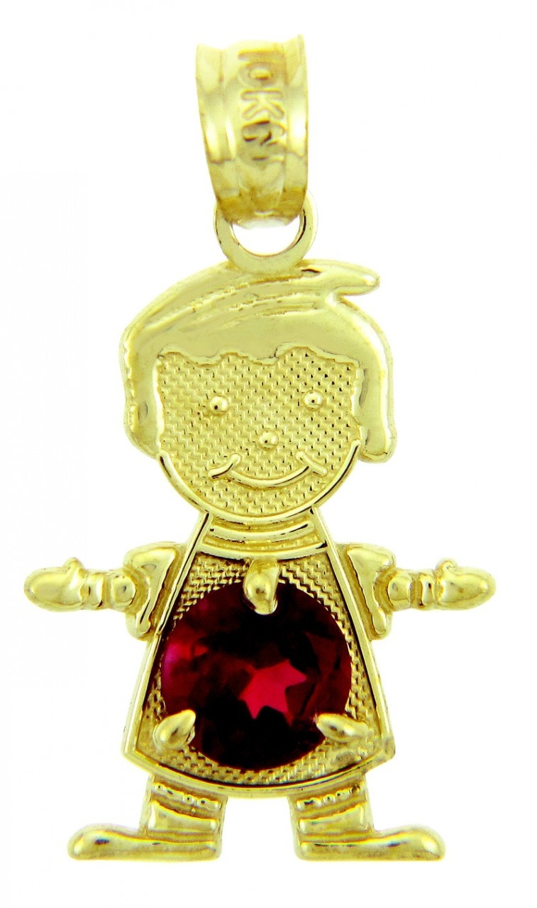 Baby charms and pendants baby birthstone pendants yellow gold july ruby baby birthstone pendants aloadofball Gallery