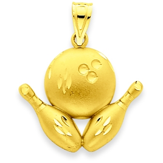 Sport charms pendants sport pendants sport charms gold bowling pendants mozeypictures Gallery