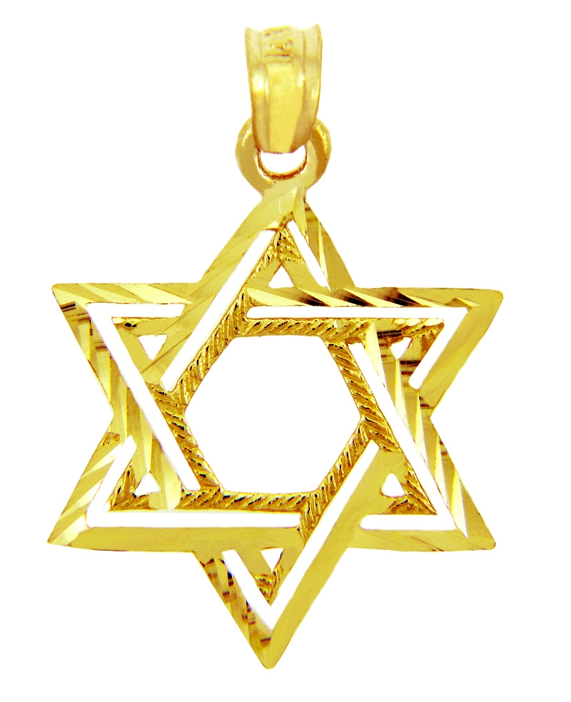 Star of david pendants gold star of david pendants sterling yellow gold star of david aloadofball Image collections