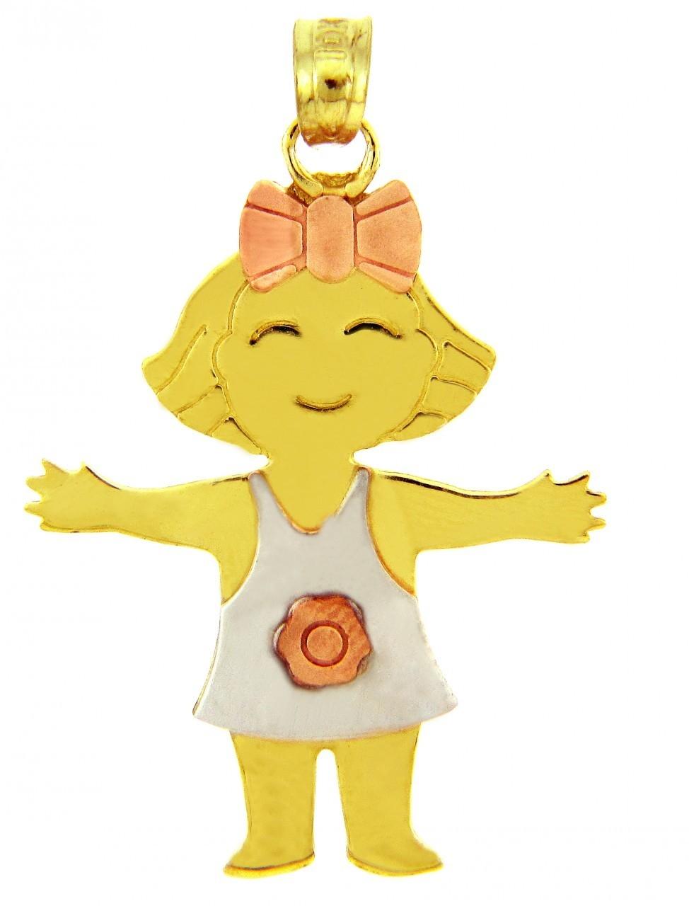Baby charms and pendants baby birthstone pendants yellow gold tri color baby pendants aloadofball Choice Image