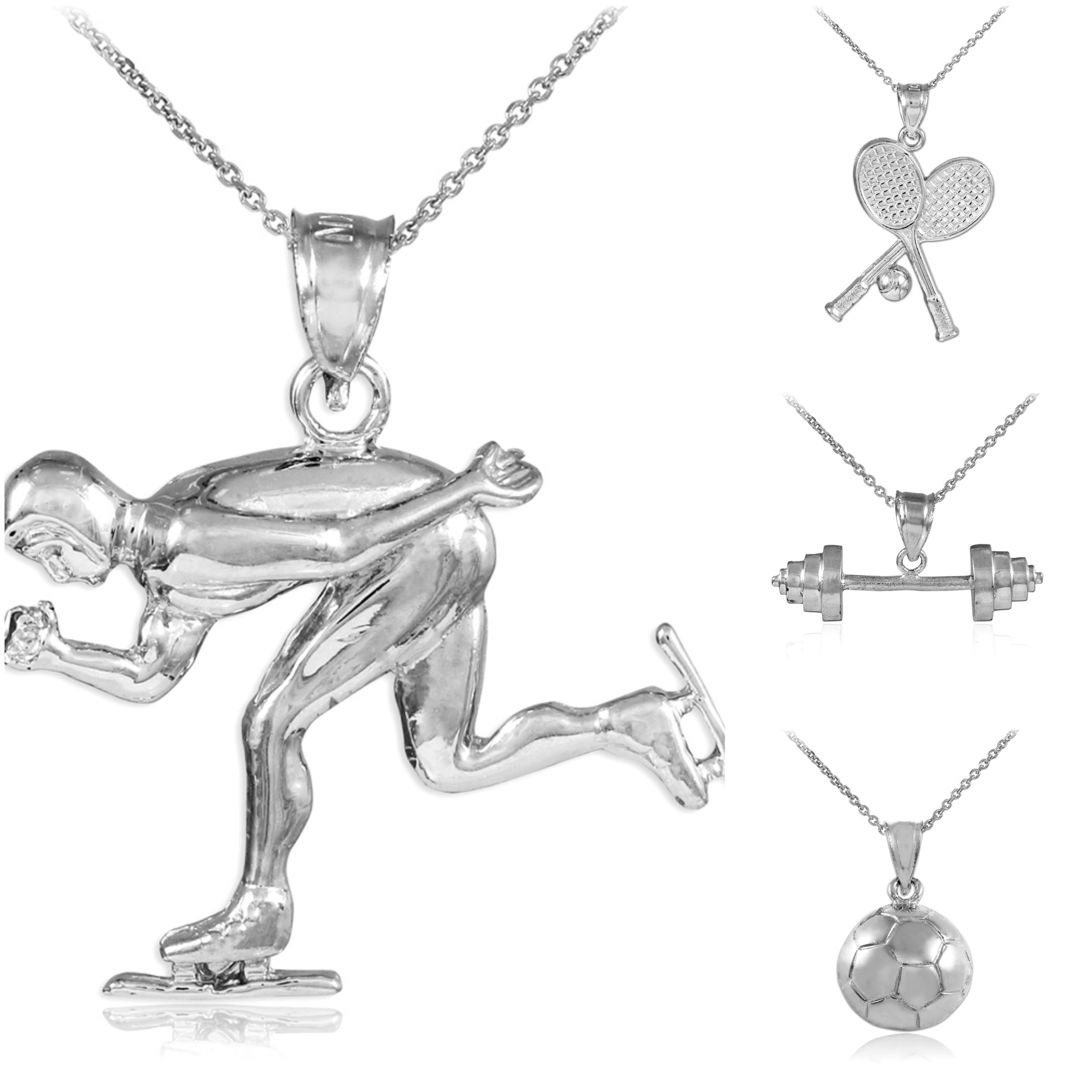 pitcher pendant ksvhs necklace mens script silver baseball fancy jewellery theme