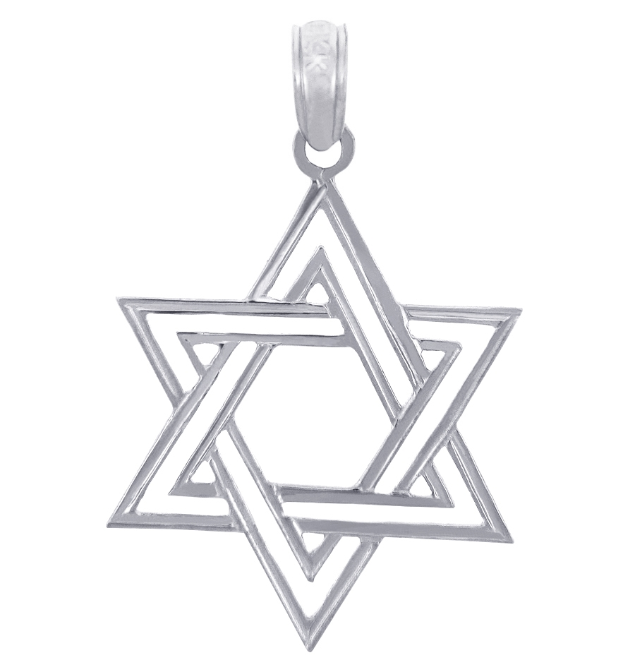 magen gold necklaces star necklace of pendants jewish white wht category sterling original img david categories