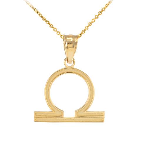 Napier Zodiac Medallion Pendant Necklace: Gold Libra Zodiac Sign Pendant Necklace