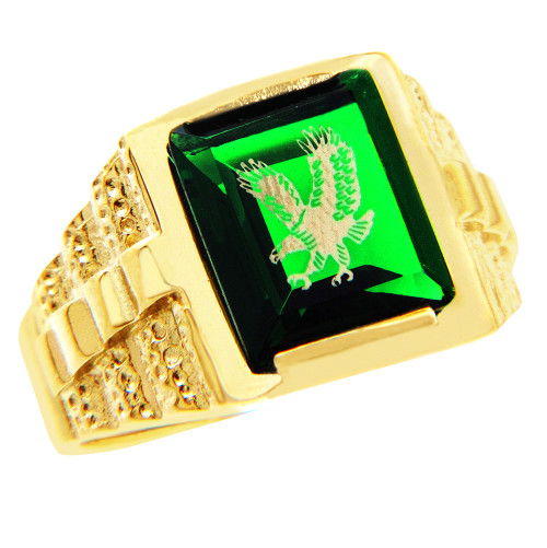 steel cz stone cubic rings dp masop s simulated men stainless accessories male emerald luxury jewelry engraved green oval zirconia with