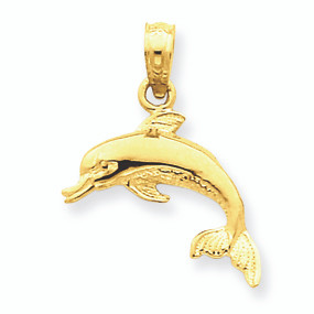 14k gold dolphin pendant aloadofball Gallery