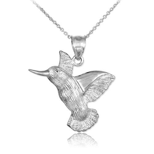 silver thailand necklace sterling pendant hummingbird p fluttering from