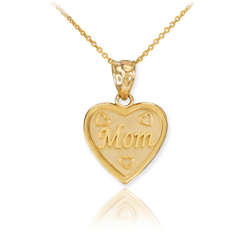 Gold mom heart pendant necklace mozeypictures Image collections