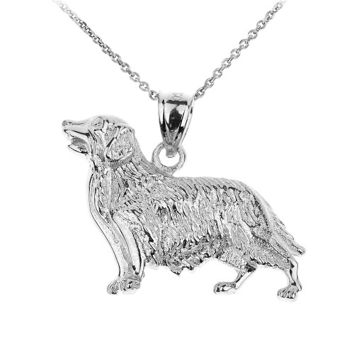 925 sterling silver golden retriever dog pendant golden sterling silver golden retriever dog pendant necklace aloadofball Choice Image