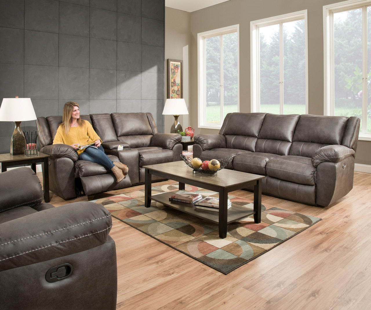 Charmant Granite Grey Beautyrest Reclining Collection
