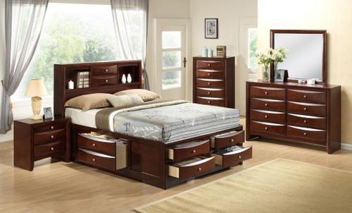 Emily Merlot Storage Bedroom
