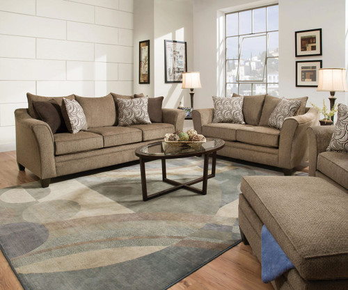 Albany Truffle Queen Sleeper Sofa