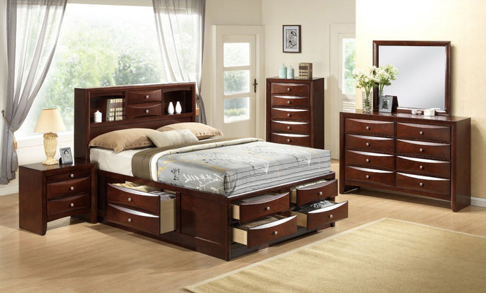 Emily Merlot Storage Bedroom