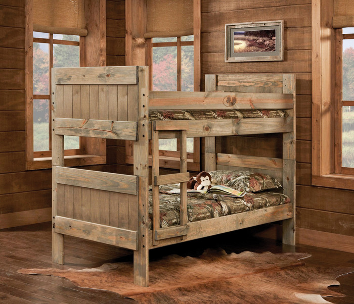 Mossy Oak Twin/Twin Kids Youth Bunkbed