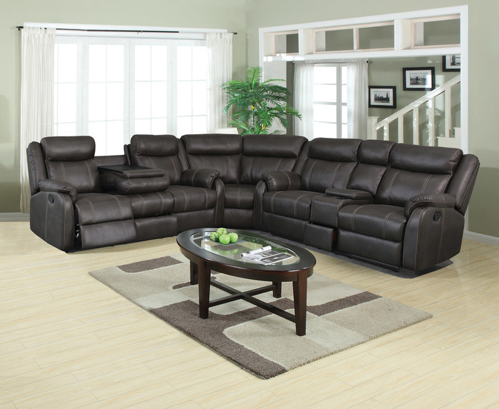 Rummy Charcoal Reclining 3 Piece Sectional