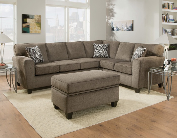Cornell Pewter 2 Piece Sectional