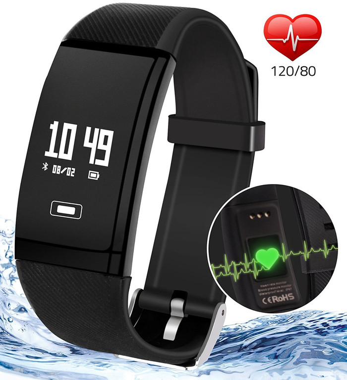 Luxury Fitness & Sleep Tracker Watch with Heart Monitor