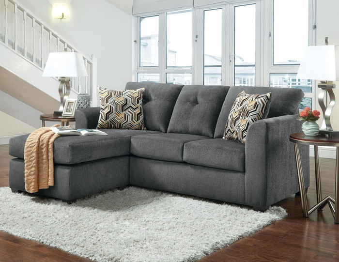 Kelly Gray Chofa (Sofa with Chaise)