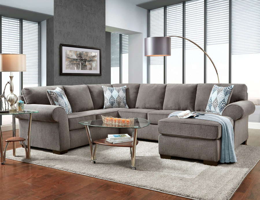 Charisma Smoke 3 Piece Sectional