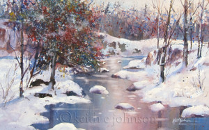 """Winter River"" Original Watercolor"