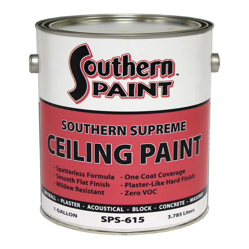 Ceiling paint coverage for Southern paint supply
