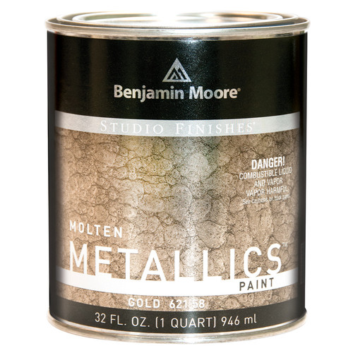 Benjamin Moore Molten Metallics Quart Southern Paint