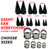 GIANT EAR STRETCHING TAPERS AND PLUGS