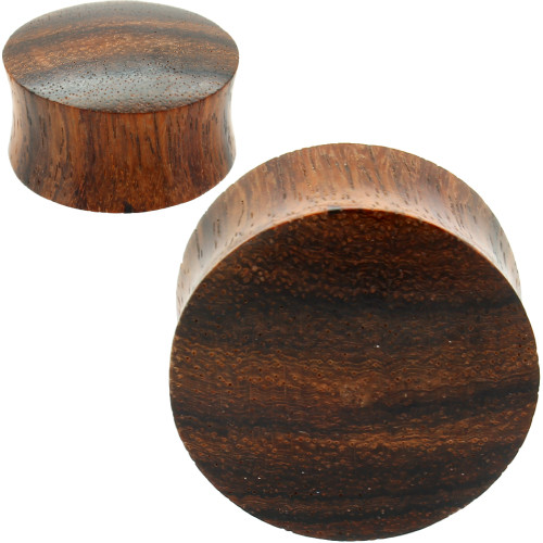 CONVEX SONO WOOD EAR GAUGES ORGANIC PLUGS
