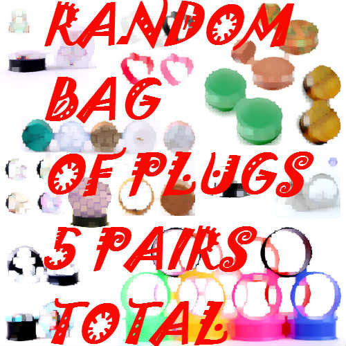 Random Bag Of Plugs 5 Pairs Total