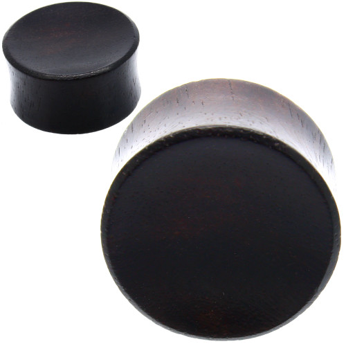 Concave Black Areng wood plugs