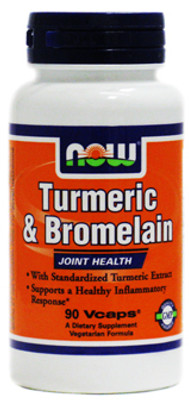 NOW Foods Turmeric Bromelain