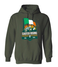 REVOLUTION 1916 MILITARY GREEN HOODIE
