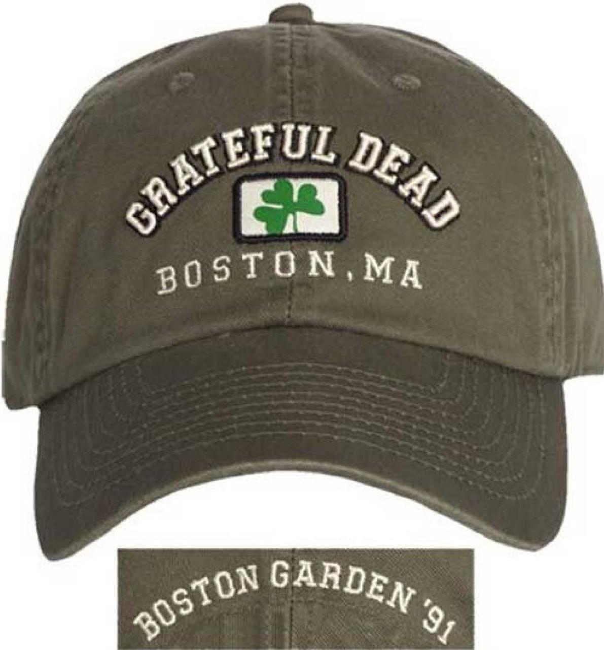 Grateful Dead Tour Hat - Boston Garden 1991 | Green Baseball Cap ...