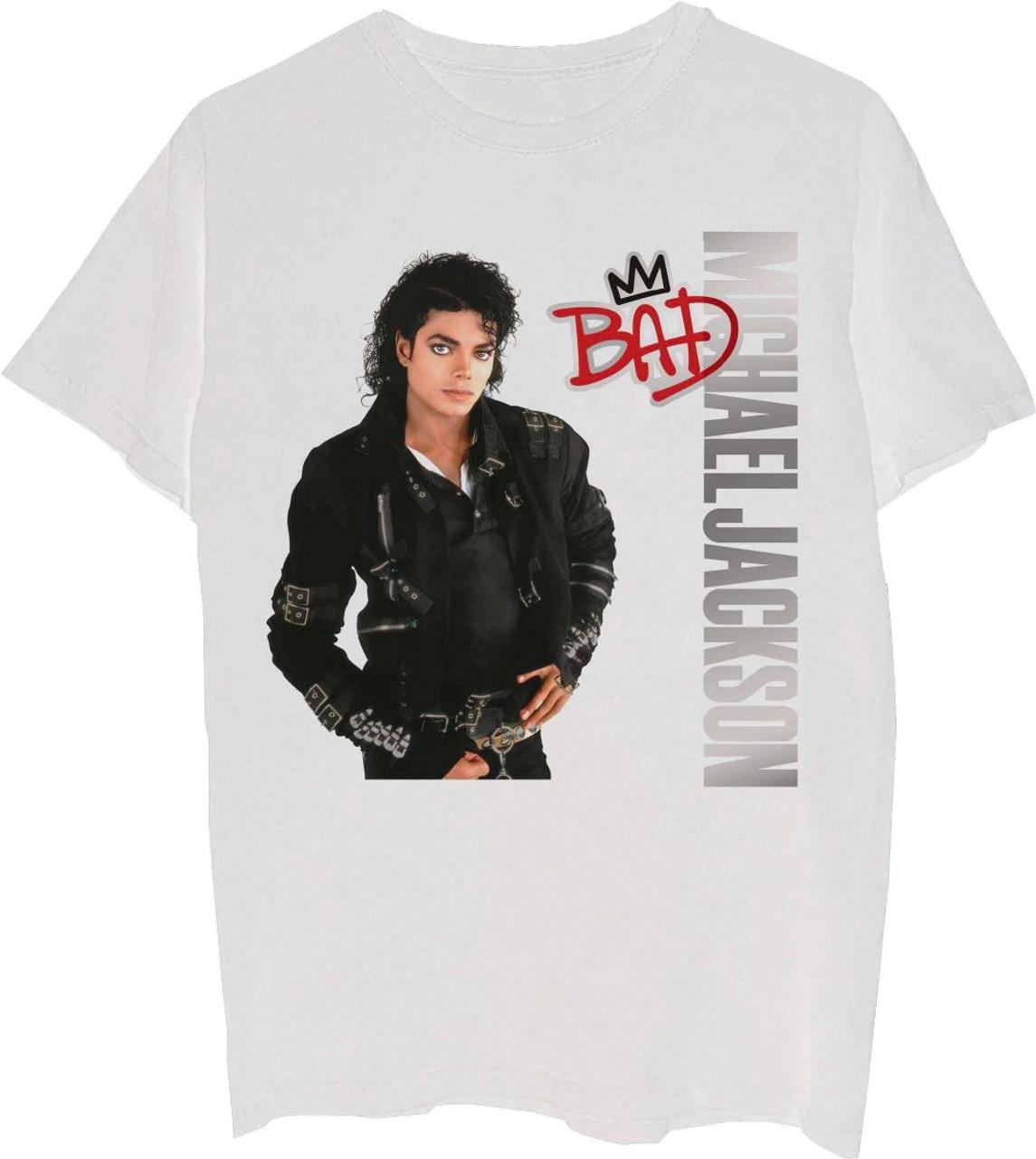 michael jackson t shirt bad album cover artwork men s white