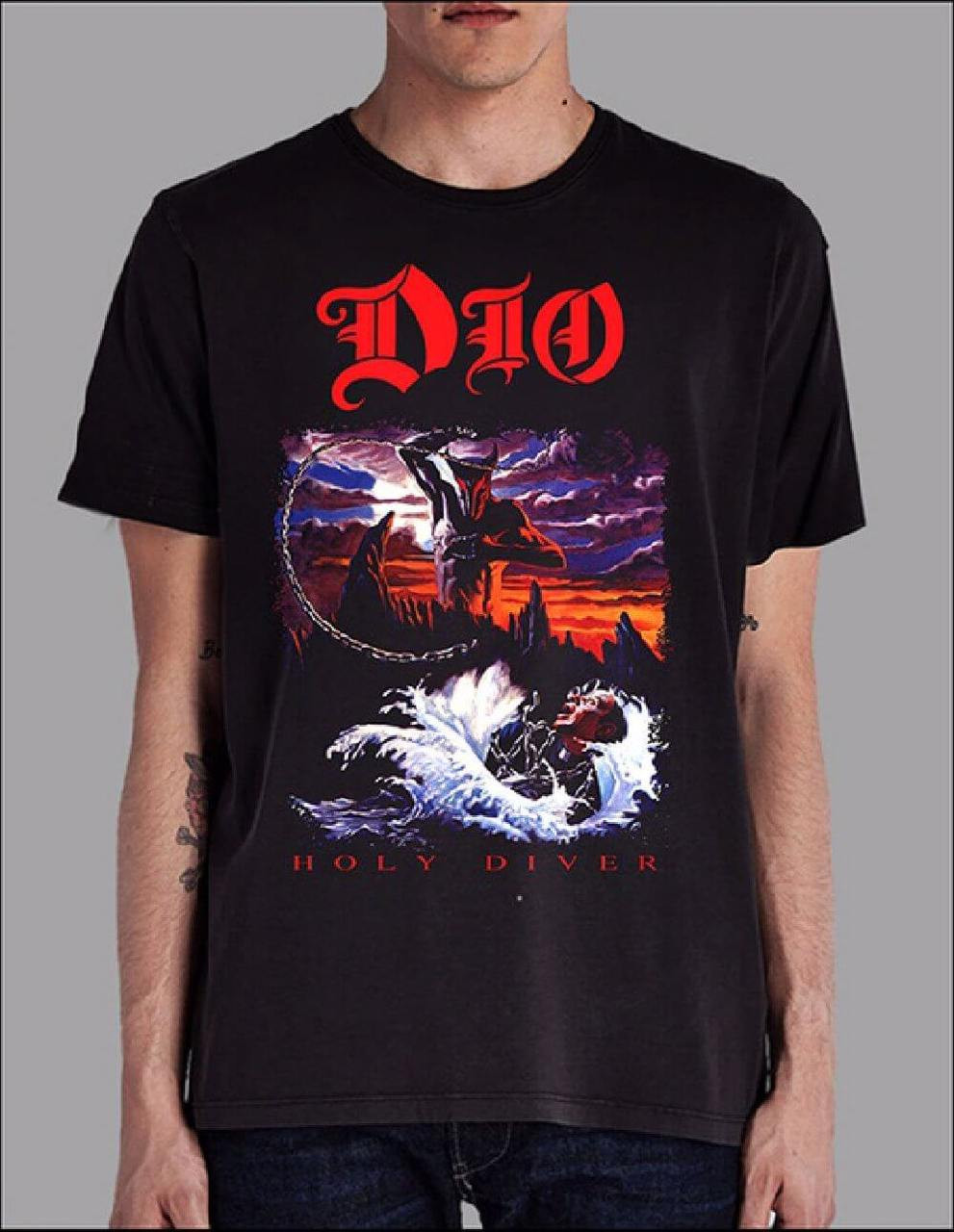Dio T-shirt - Holy Diver Album Cover Artwork | Men's Black Shirt