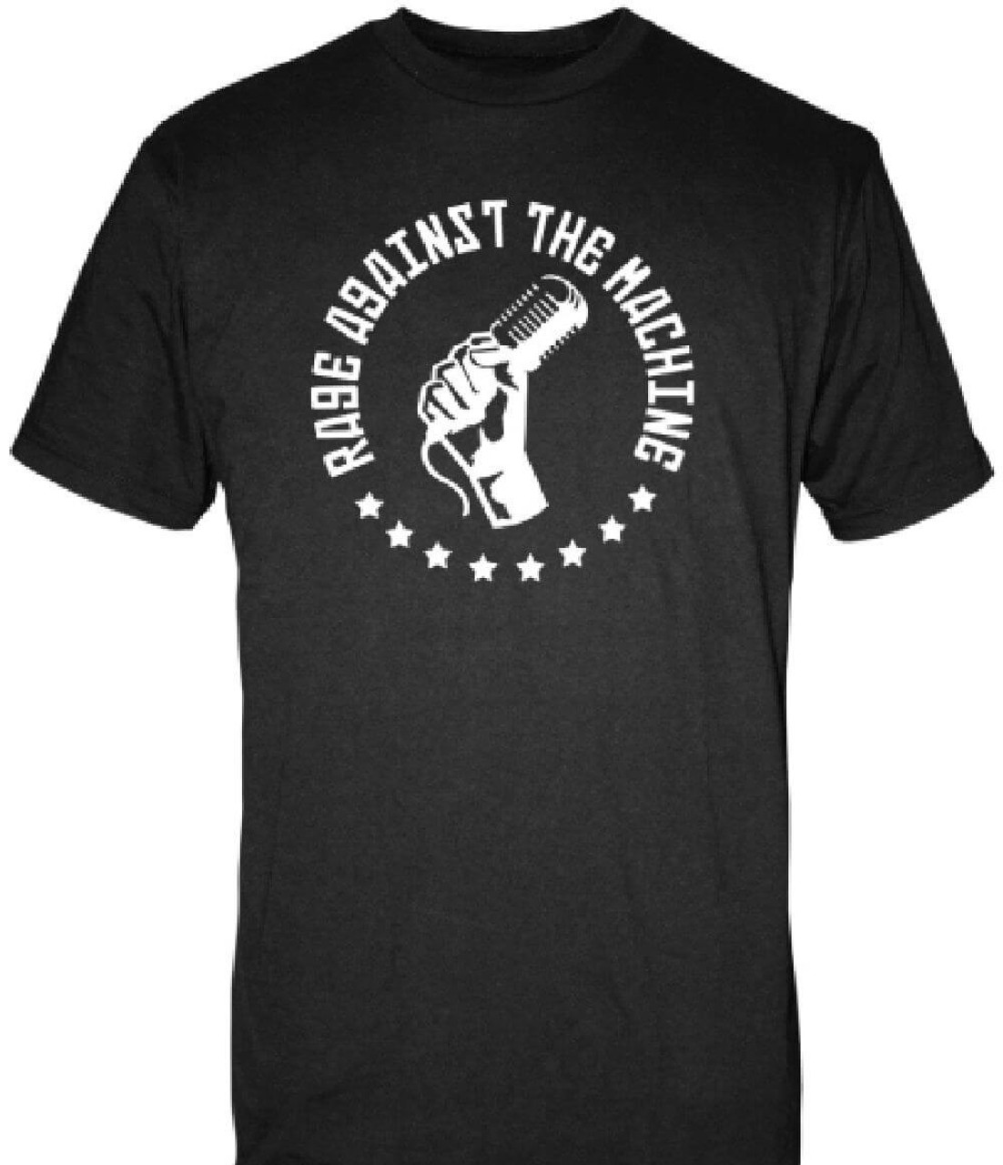 Rage against the machine microphone in fist logo t shirt for My logo on a shirt