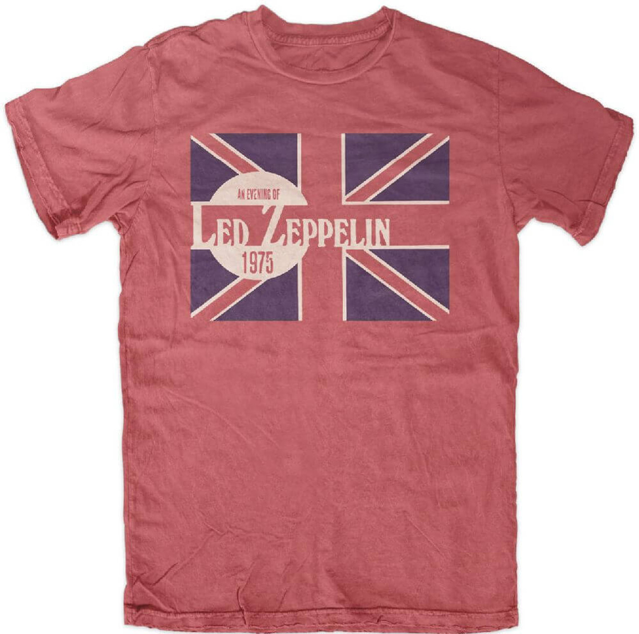 54f7d8cf5f7 Led zeppelin evening of led zeppelin concert tour show performance live  mens red vintage shirt jpg