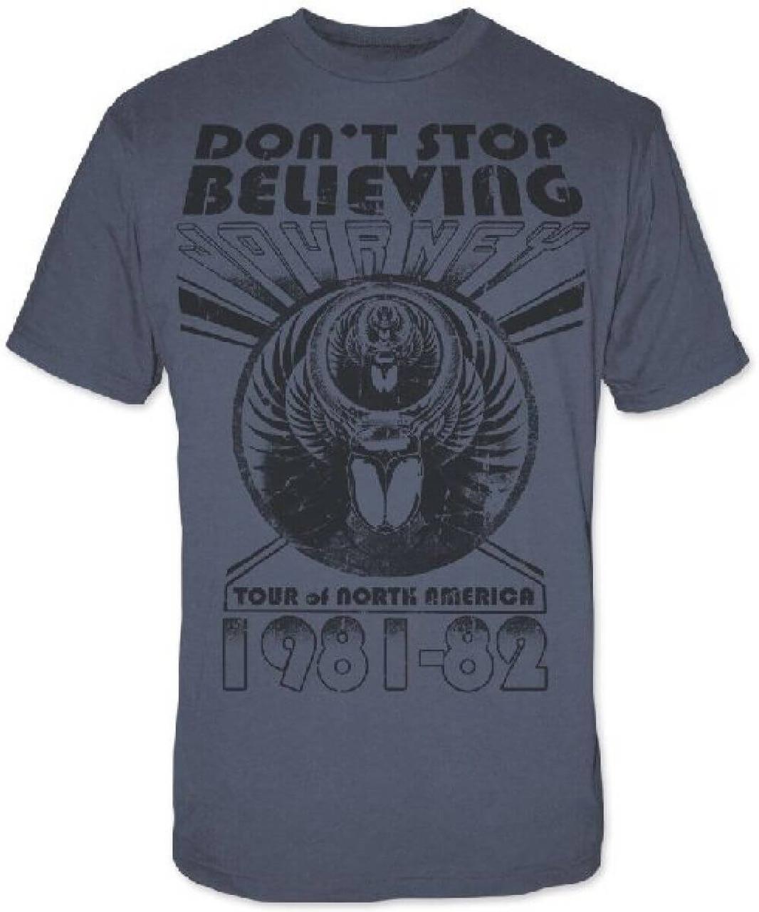 journey don 39 t stop believing tour men s concert t shirt rocker rags. Black Bedroom Furniture Sets. Home Design Ideas