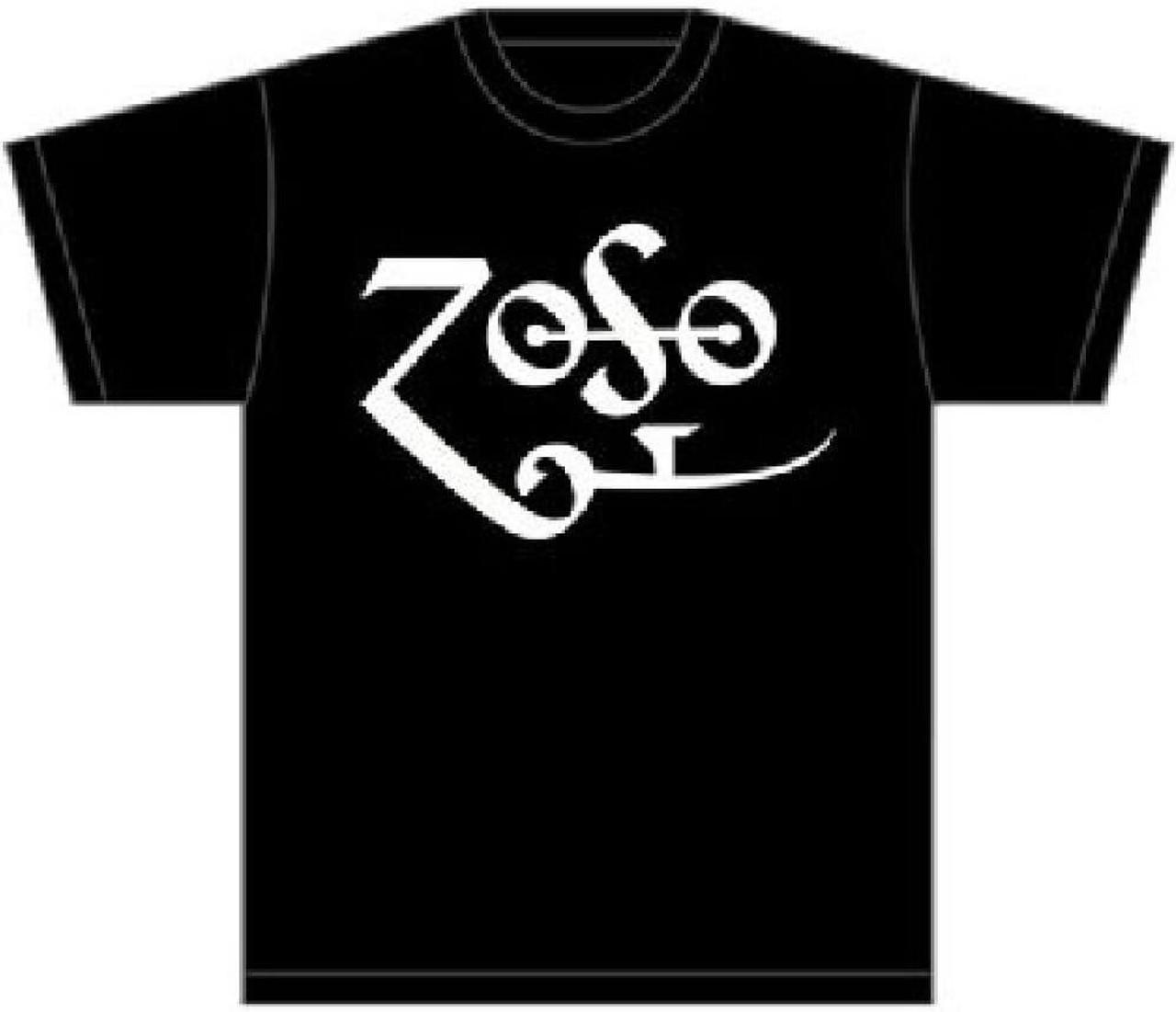 Led Zeppelin Jimmy Page Zoso Symbol Mens Black T Shirt Rocker Rags