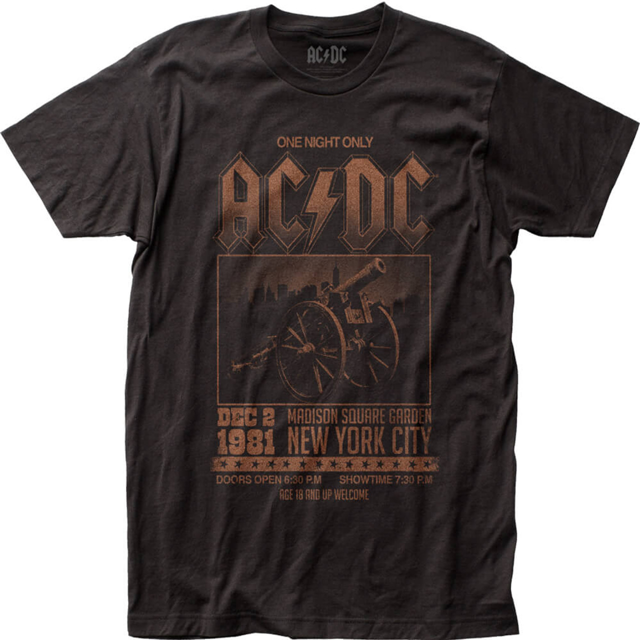AC/DC Madison Square Garden December 1981 Concert Promo Poster T-shirt