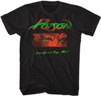 Poison Rock Band Open Up and Say...Ahh Album Cover Artwork Men's Black T-shirt