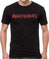 Iron Maiden Vintage Logo T-shirt - Men's Gray Shirt