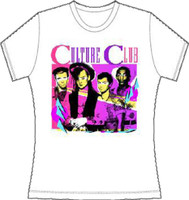 Culture Club Band Member Drawing Women's White T-shirt