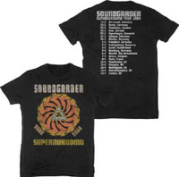 Soundgarden Superunknown Tour 1994 Men's Black Vintage Concert T-shirt