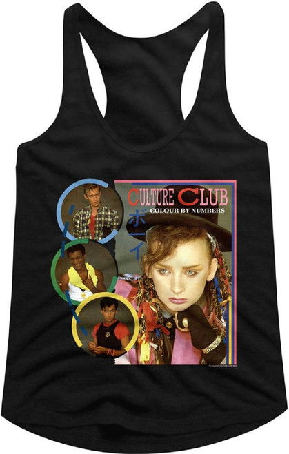 Culture Club Tank Top T-shirt - Colour by Numbers Album Cover Art | Women's Black Shirt