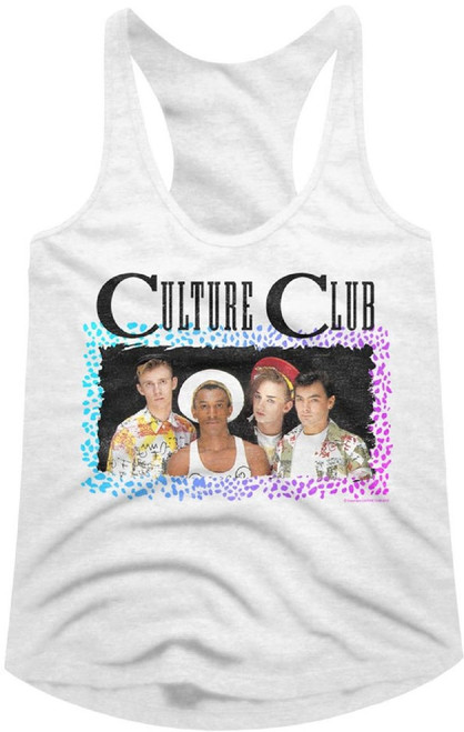 Culture Club Women's Tank Top T-shirt - Culture Club Band Photo. White Shirt