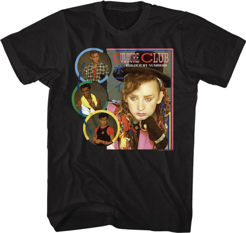 Culture Club Colour by Numbers Album Cover Artwork Men's Black T-shirt