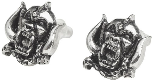 Motorhead Earrings - Snaggletooth War Pig Logo. Pewter with Steel Ear Post