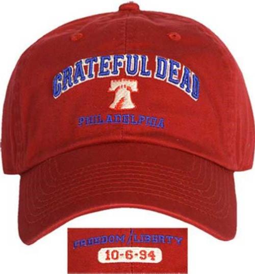 Grateful Dead Concert Hat - Philadelphia Spectrum October 1994. Red Baseball Cap