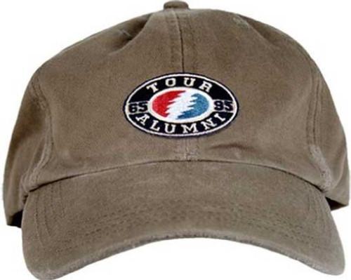 Grateful Dead Hat - Tour Alumni. Tan Baseball Cap