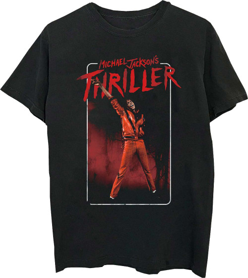 Michel Jackson Thriller Music Video Men's Black T-shirt